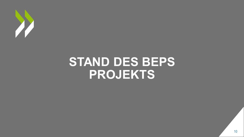 STAND DES BEPS PROJEKTS 10