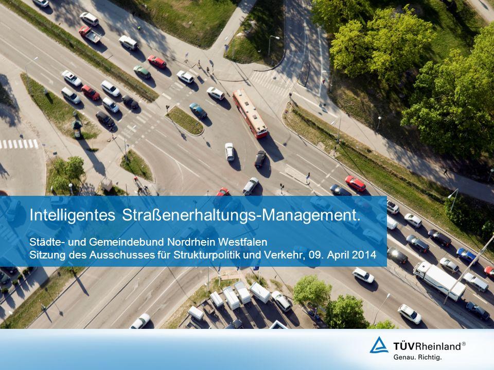 Intelligentes Straßenerhaltungs-Management.