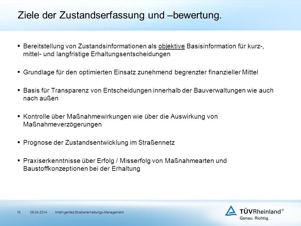 Ziele der Zustandserfassung und –bewertung.