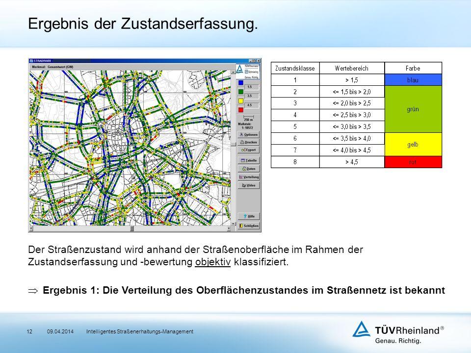 12 Der Straßenzustand wird anhand der Straßenoberfläche im Rahmen der Zustandserfassung und -bewertung objektiv klassifiziert.