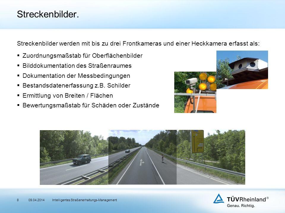 Intelligentes Straßenerhaltungs-Management Streckenbilder.