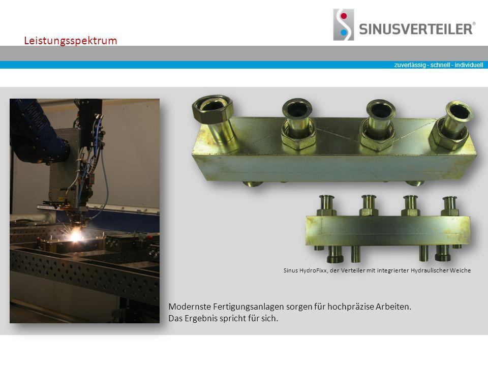 zuverlässig - schnell - individuell Modernste Fertigungsanlagen sorgen für hochpräzise Arbeiten.