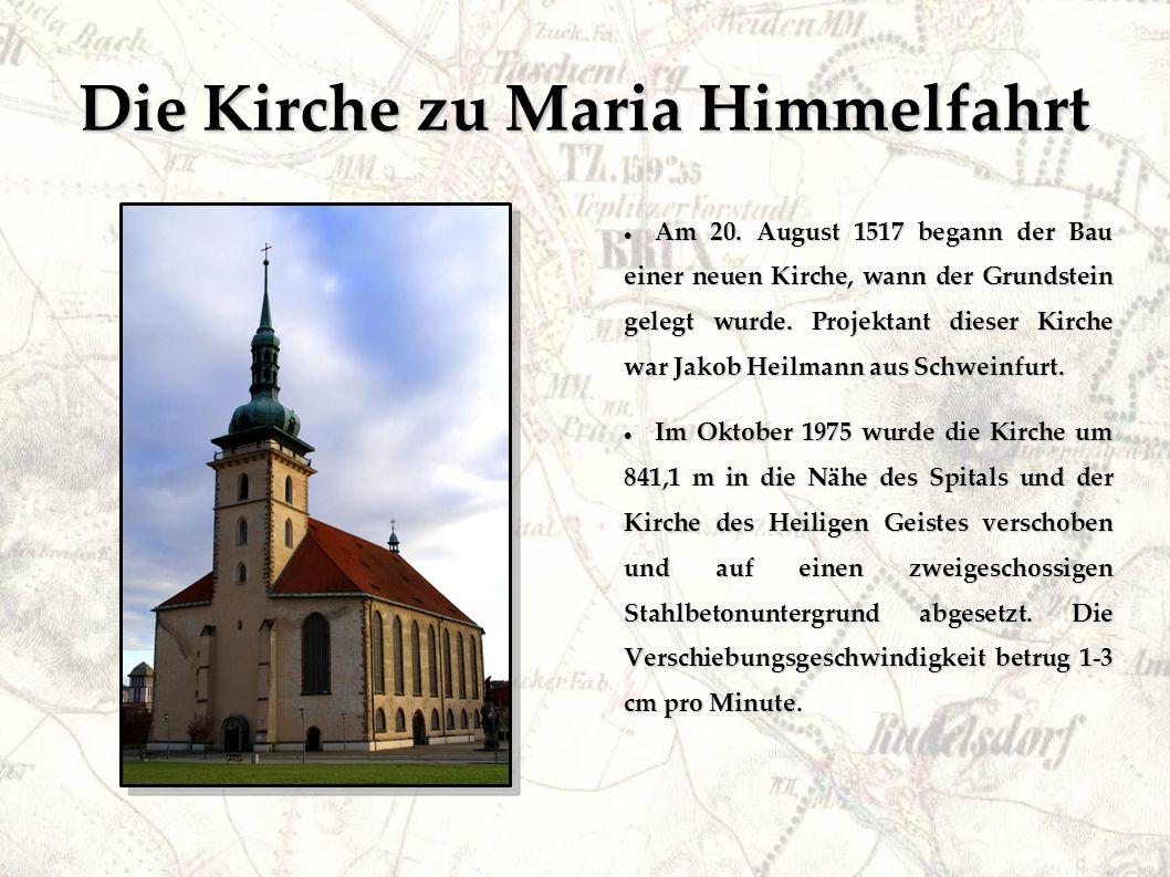 Die Kirche zu Maria Himmelfahrt Nach 27 Transporttagen wurde endlich die Kirche an ihren neuen Standort abgesetzt.