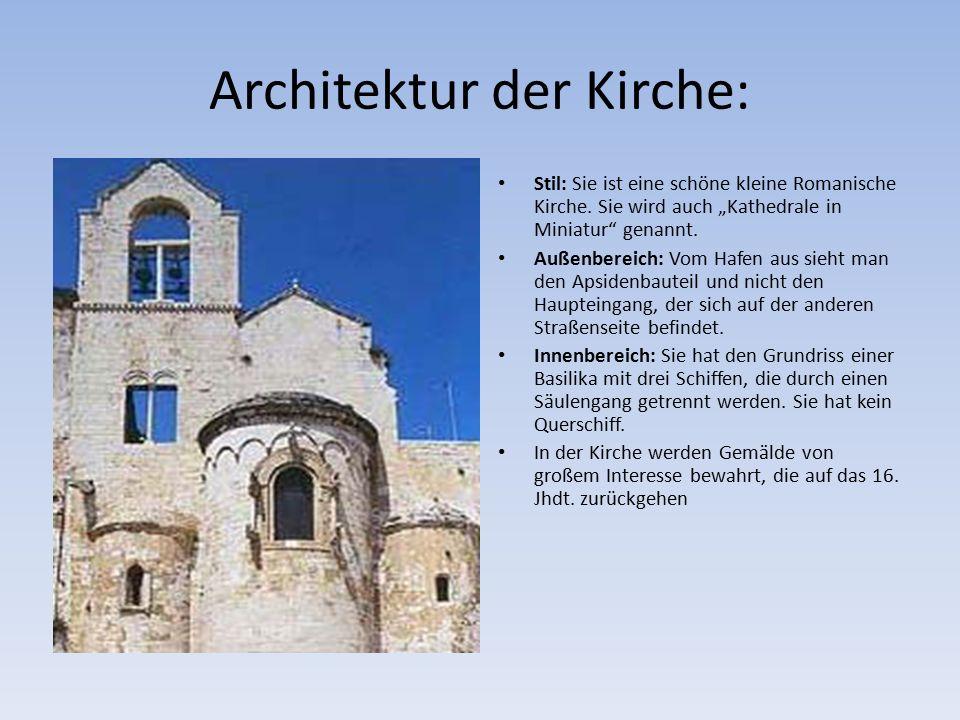 Architektur der Kirche: Stil: Sie ist eine schöne kleine Romanische Kirche.