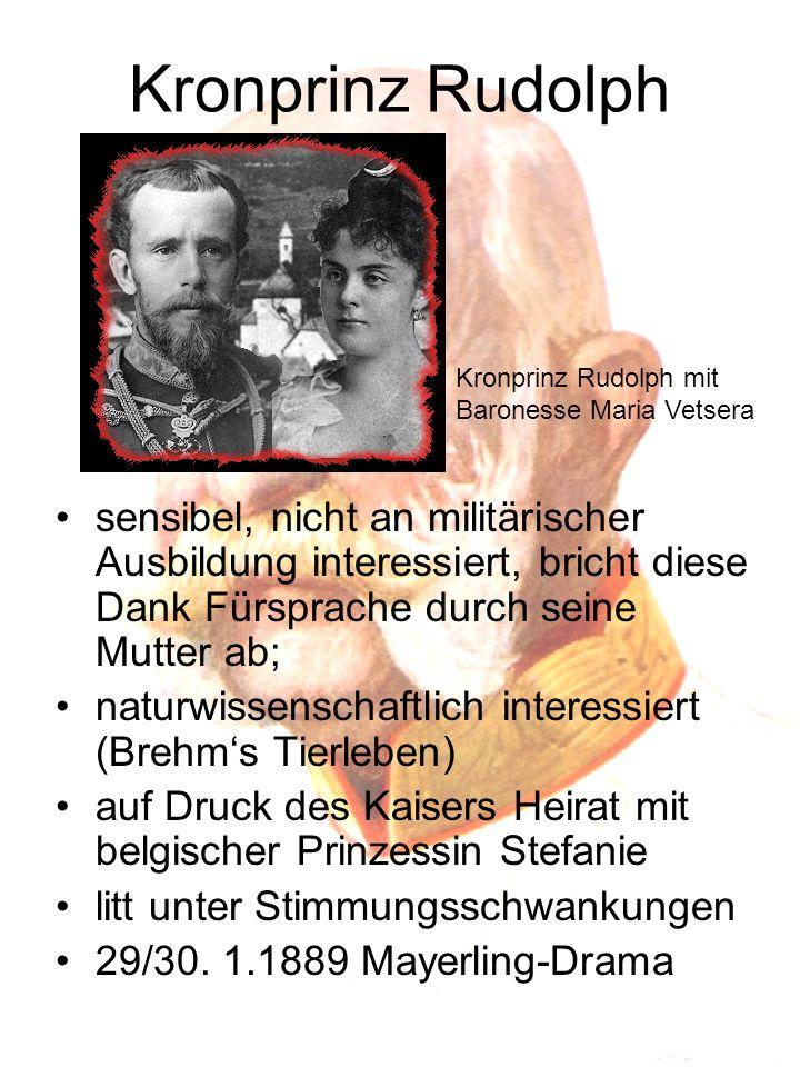 10.09.1898 Ermordung von Sissi 28.06.1914 Ermordung des Thronfolgerpaares in Sarajewo