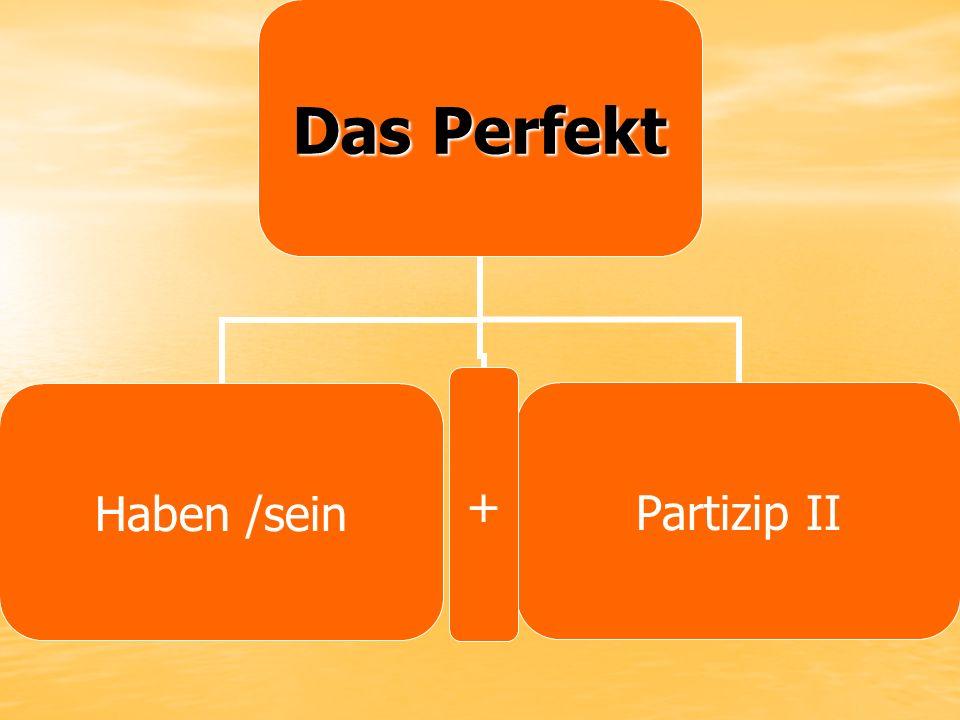 Das Perfekt Haben /sein Partizip II+