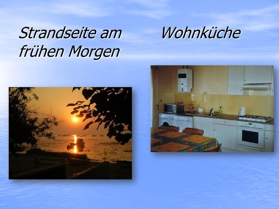 Strandseite am Wohnküche frühen Morgen