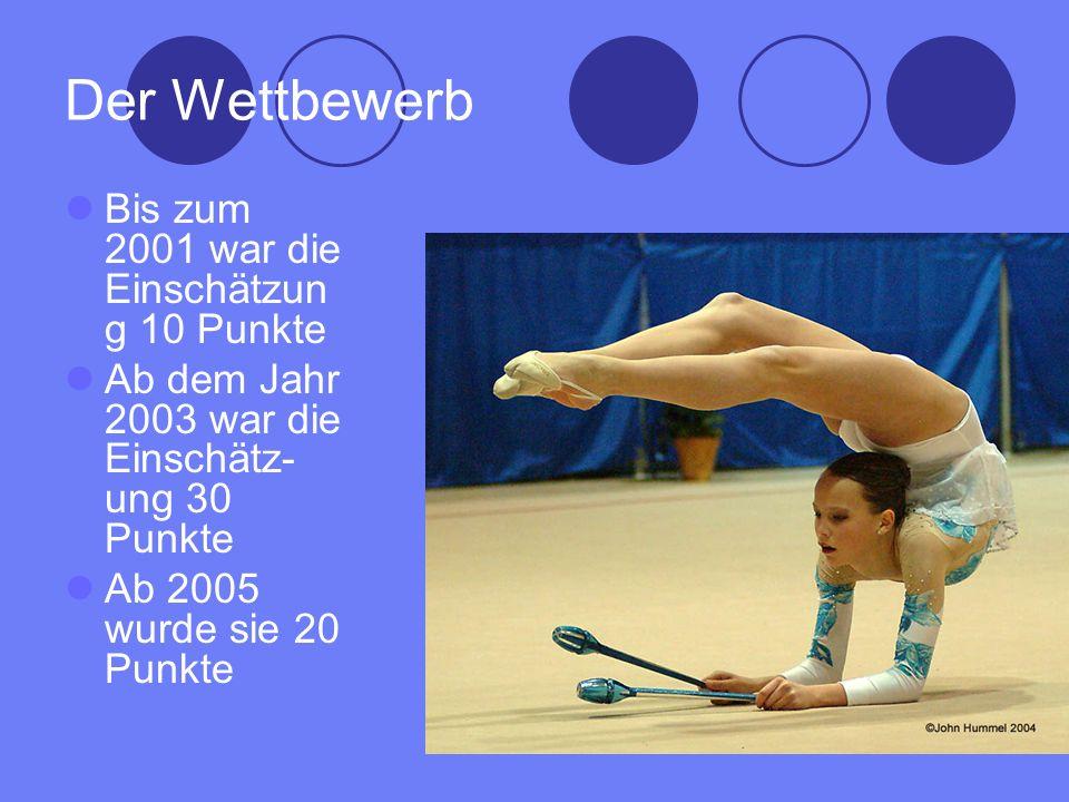 Der Wettbewerb Bis zum 2001 war die Einschätzun g 10 Punkte Ab dem Jahr 2003 war die Einschätz- ung 30 Punkte Ab 2005 wurde sie 20 Punkte