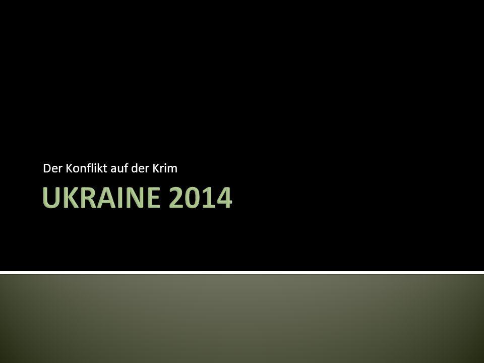 Der Konflikt auf der Krim