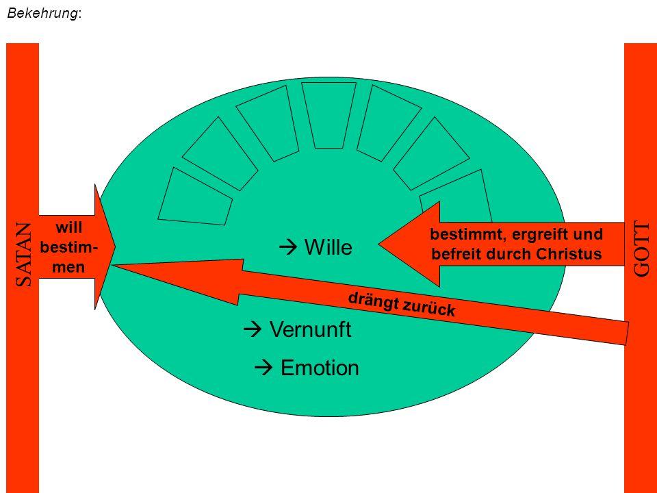 nach der Bekehrung:  Wille  Vernunft  Emotion Strukturmomente der Person werden neu ausgerichtet Selbstdistanzierung wird sich z.T.