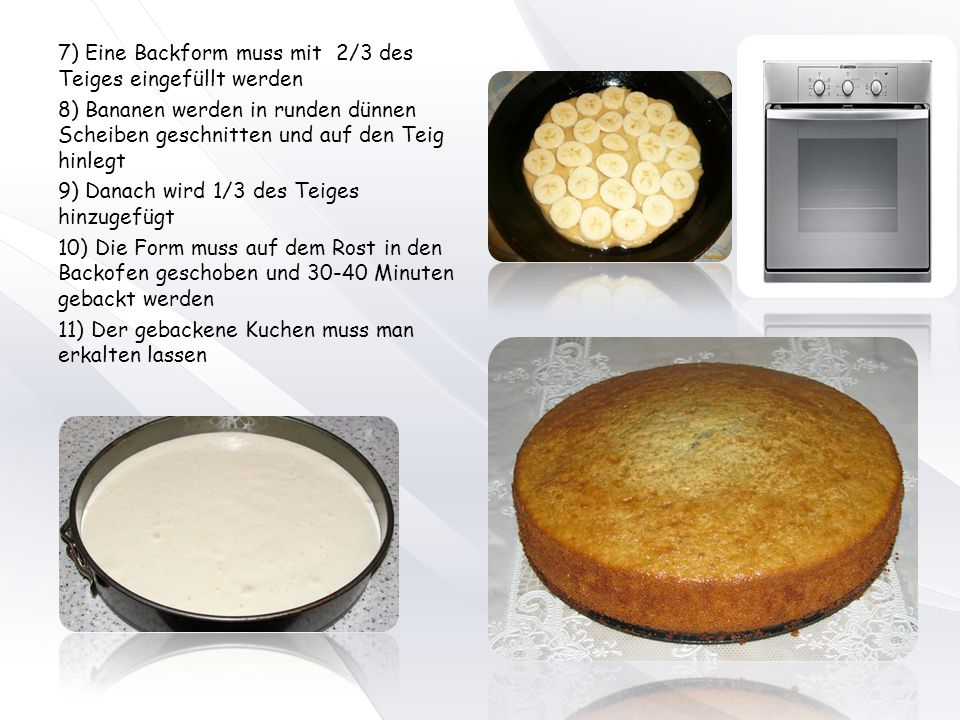 Kuchen gebacken oder gebackt