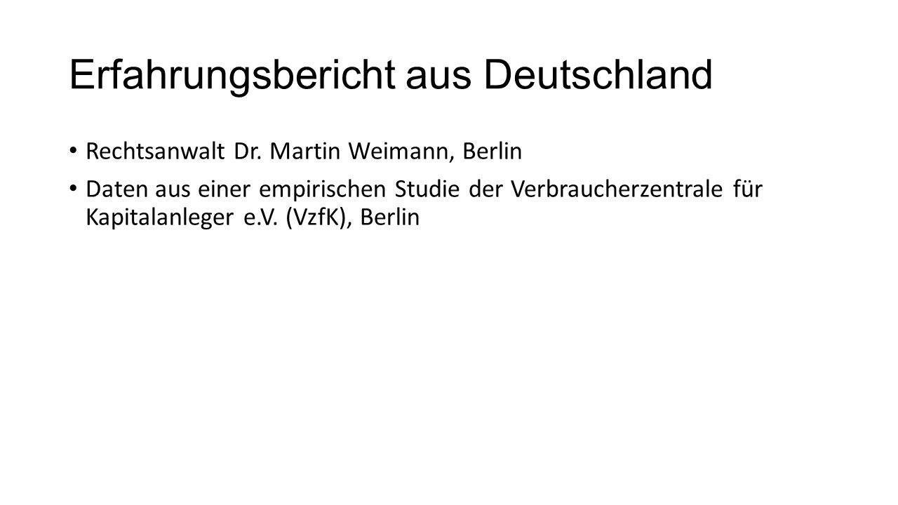 Erfahrungsbericht aus Deutschland Rechtsanwalt Dr.