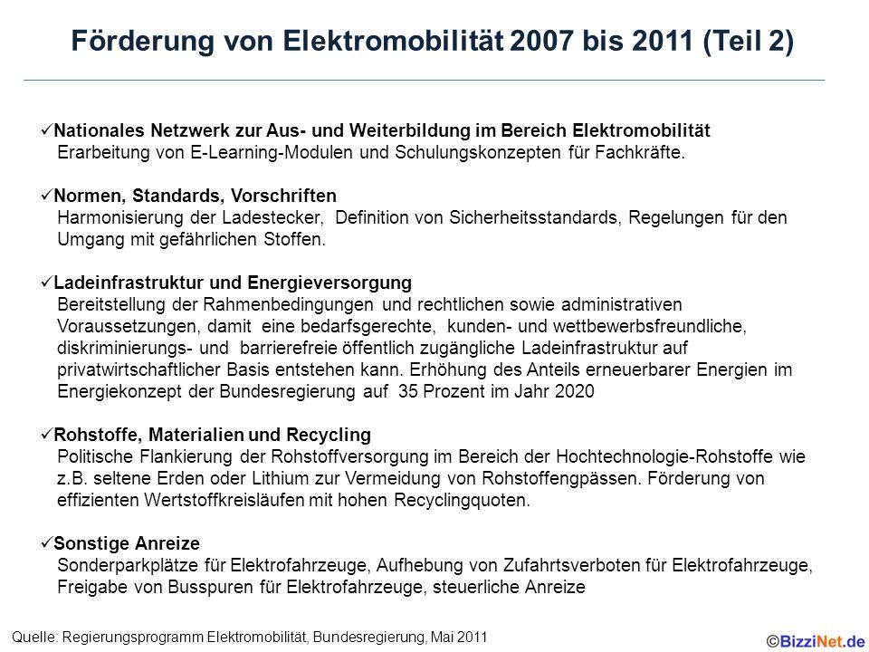 Nationales Netzwerk zur Aus- und Weiterbildung im Bereich Elektromobilität Erarbeitung von E-Learning-Modulen und Schulungskonzepten für Fachkräfte.