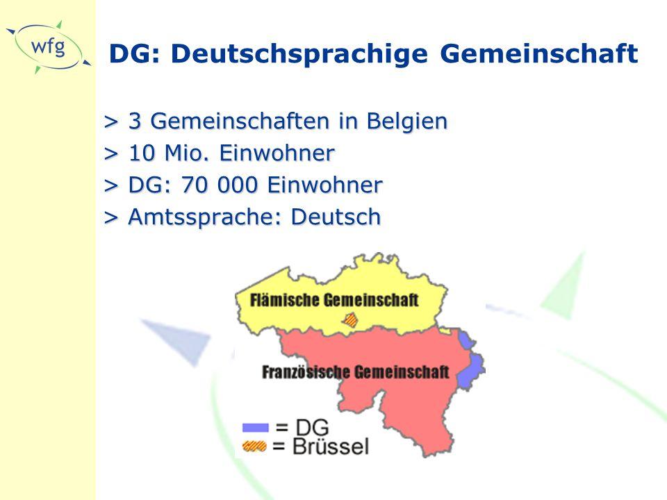 DG: Deutschsprachige Gemeinschaft > 3 Gemeinschaften in Belgien > 10 Mio.