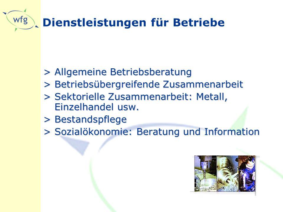 Dienstleistungen für Betriebe >Allgemeine Betriebsberatung >Betriebsübergreifende Zusammenarbeit >Sektorielle Zusammenarbeit: Metall, Einzelhandel usw.