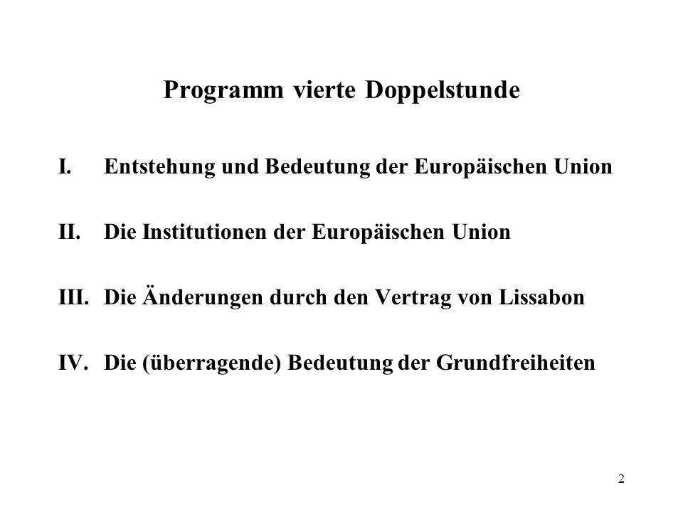 1 Vierte Doppelstunde: Europarecht