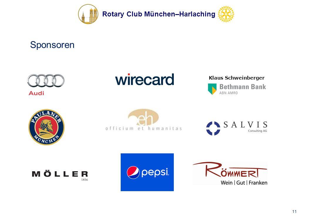 Rotary Club München–Harlaching Sponsoren 11 Klaus Schweinberger