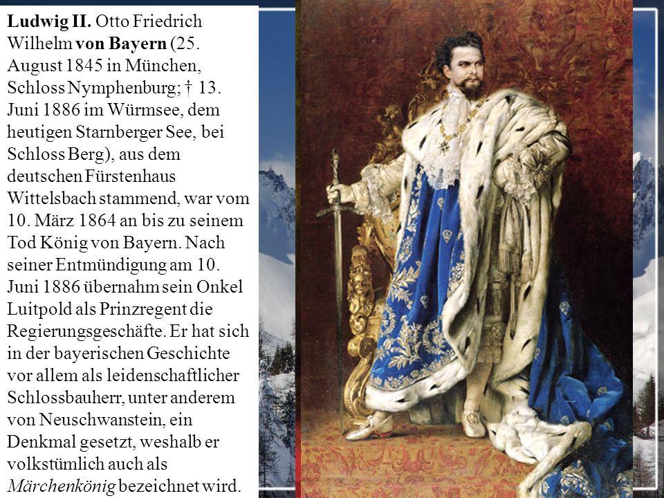 Das Schloss Hohenschwangau liegt direkt gegenüber von Schloss Neuschwanstein im Ortsteil Hohenschwangau der Gemeinde Schwangau bei Füssen in Bayern.Erstmals wurde das Schloss im 12.