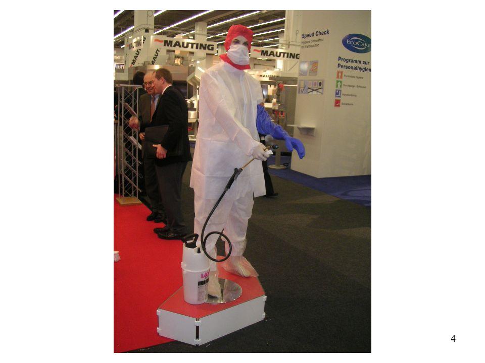 Einsatz von Mundschutz und Einmalhandschuhen bei besonders sensiblen Produkten und kritischen offenen Arbeitsprozessen...