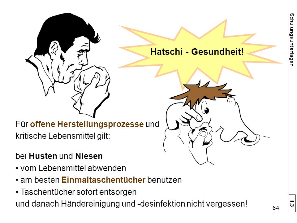 Hatschi - Gesundheit.