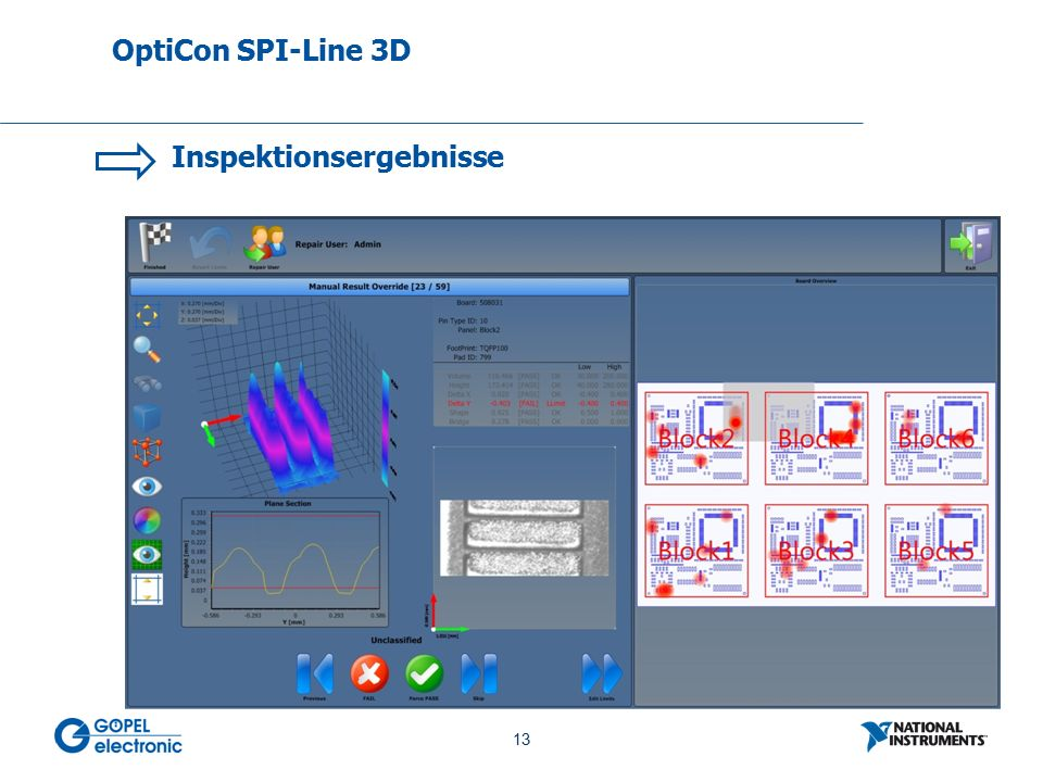 13 No. 13 Inspektionsergebnisse OptiCon SPI-Line 3D