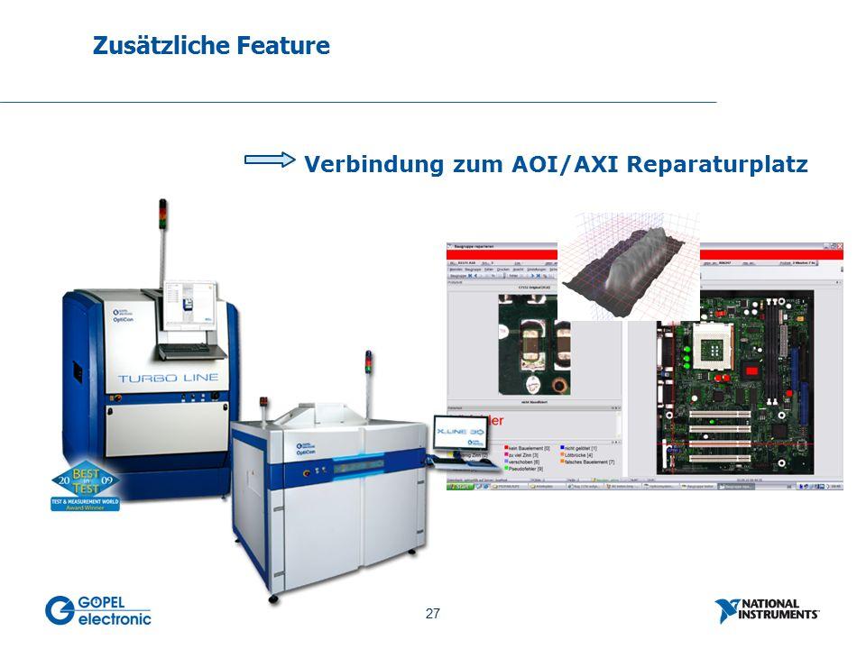27 No. 27 Verbindung zum AOI/AXI Reparaturplatz Zusätzliche Feature