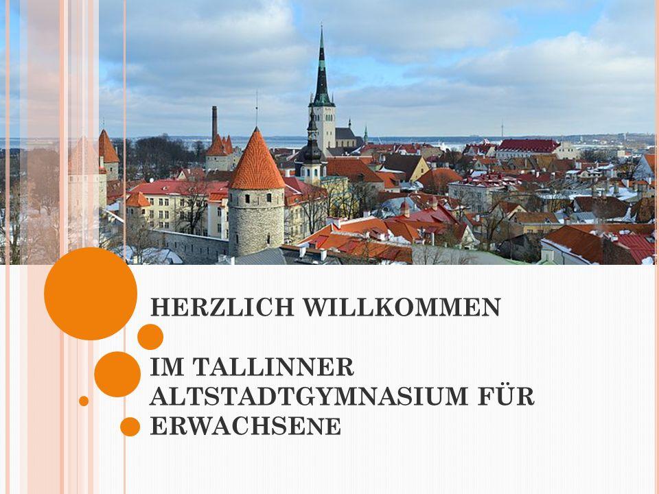 GESCHICHTE Die Schule befindet sich in dem Gebäude eines alten Nonnenkloster, das bereits vor 760 Jahren gebaut wurde Im Jahre 1919 wurde hier das Tallinner College eröffnet.