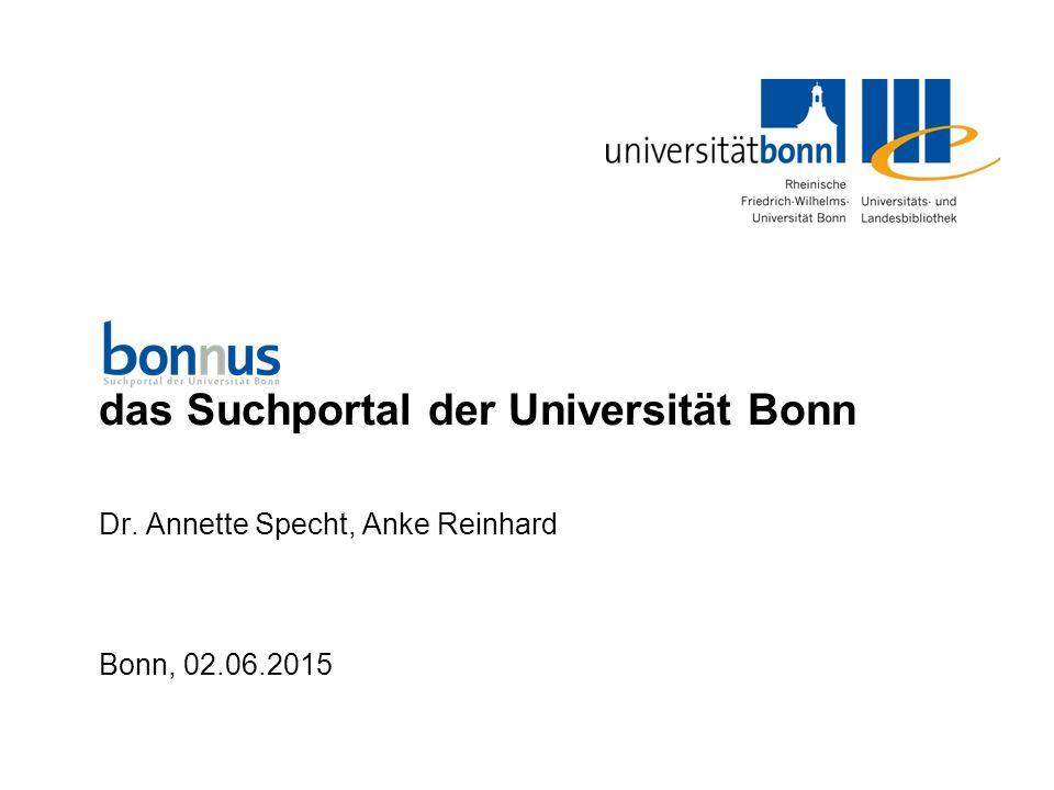 1 bonnus das Suchportal der Universität Bonn Was ist bonnus.