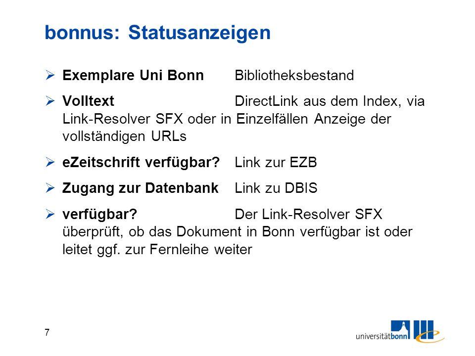 8 bonnus: Hauptfilter (von unten n.