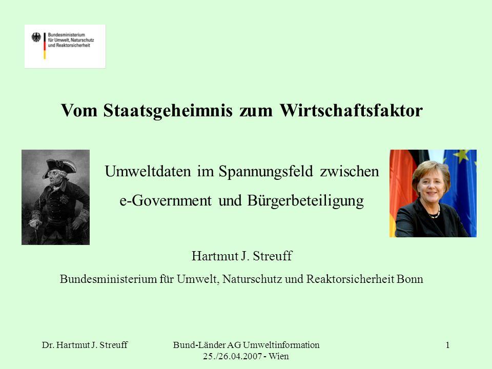 Dr.Hartmut J. StreuffBund-Länder AG Umweltinformation 25./26.04.2007 - Wien 2 Was erwartet Sie.