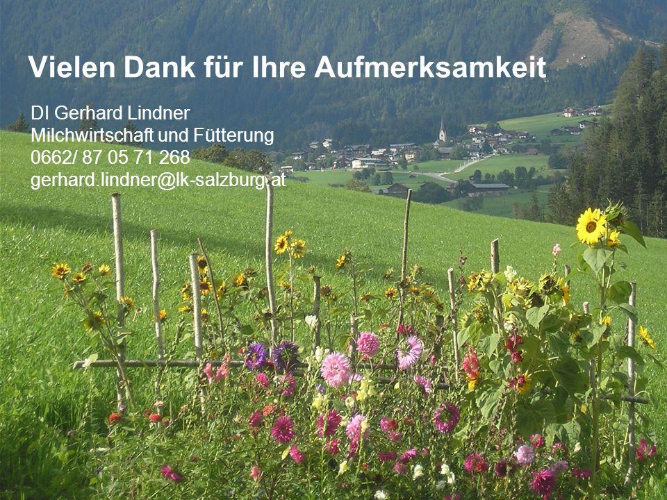 DI Gerhard Lindner Salzburger Milchviehtag 2014 Folie 2 Vielen Dank für Ihre Aufmerksamkeit DI Gerhard Lindner Milchwirtschaft und Fütterung 0662/ 87