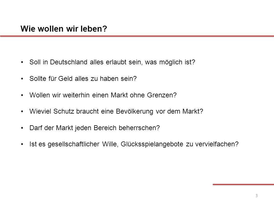 3 Soll in Deutschland alles erlaubt sein, was möglich ist? Sollte für Geld alles zu haben sein? Wollen wir weiterhin einen Markt ohne Grenzen? Wieviel