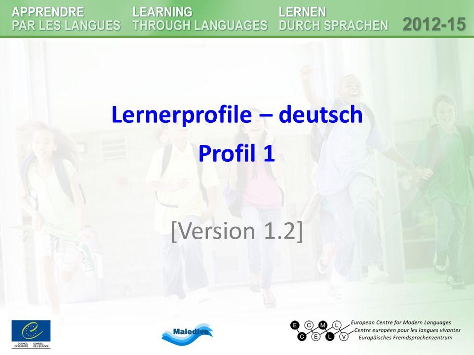 Lernerprofile – deutsch Profil 1 [Version 1.2]