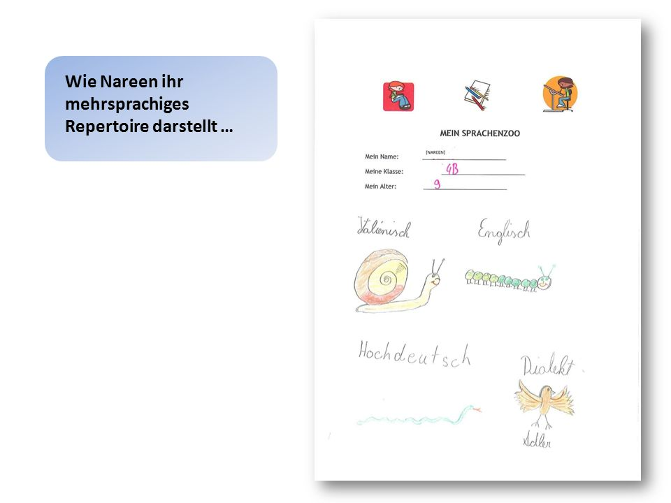 Bildungs- und Sprachbiographie Mehrsprachiges Repertoire – Dialekt in der Familie und mit FreundInnen – Standarddeutsch als Unterrichtssprache in der