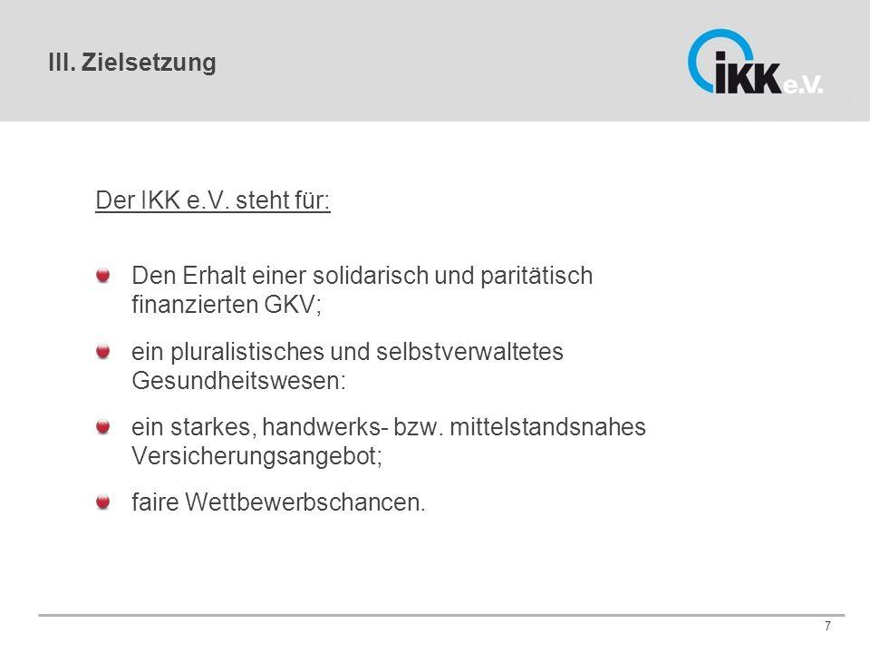 III. Zielsetzung Der IKK e.V.