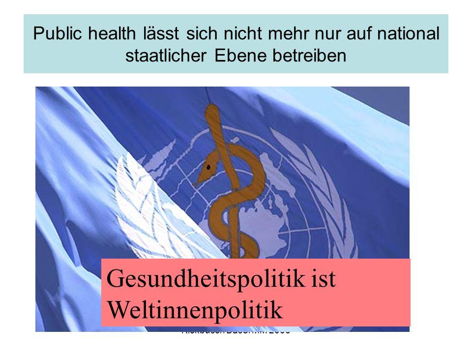 Kickbusch Basel MM 2006 Public health lässt sich nicht mehr nur auf national staatlicher Ebene betreiben Gesundheitspolitik ist Weltinnenpolitik