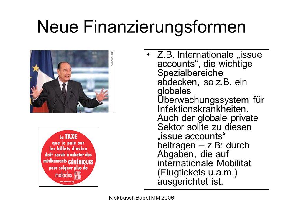 Kickbusch Basel MM 2006 Neue Finanzierungsformen Z.B.