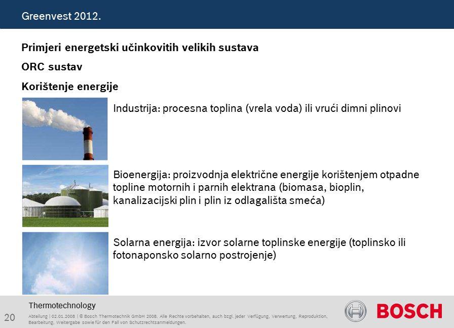 20 Abteilung | 02.01.2008 | © Bosch Thermotechnik GmbH 2008.