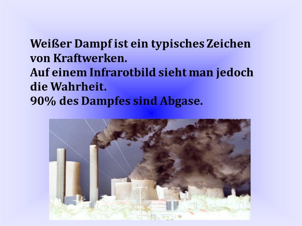 Weißer Dampf ist ein typisches Zeichen von Kraftwerken.