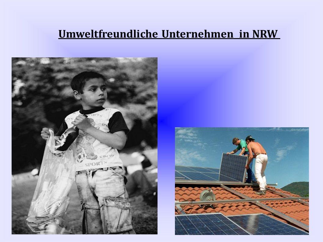 Umweltfreundliche Unternehmen in NRW