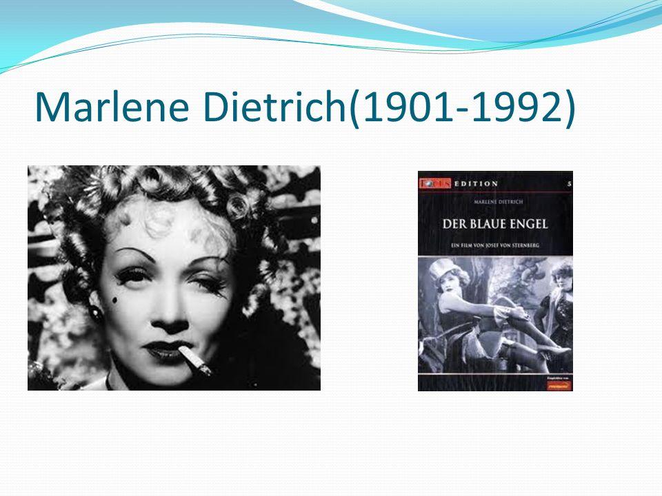 Marlene Dietrich(1901-1992)