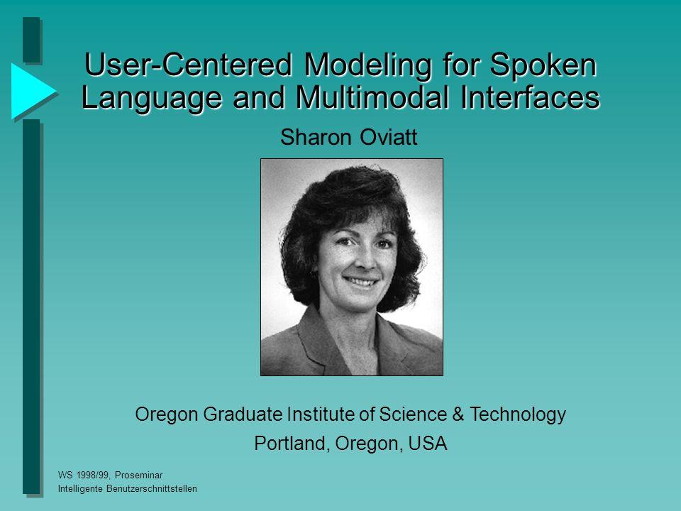 WS 1998/99, Proseminar Intelligente Benutzerschnittstellen Lösung für Ortsbeschreibungen Multimodale Eingabe erscheint sinnvoll.Multimodale Eingabe erscheint sinnvoll.