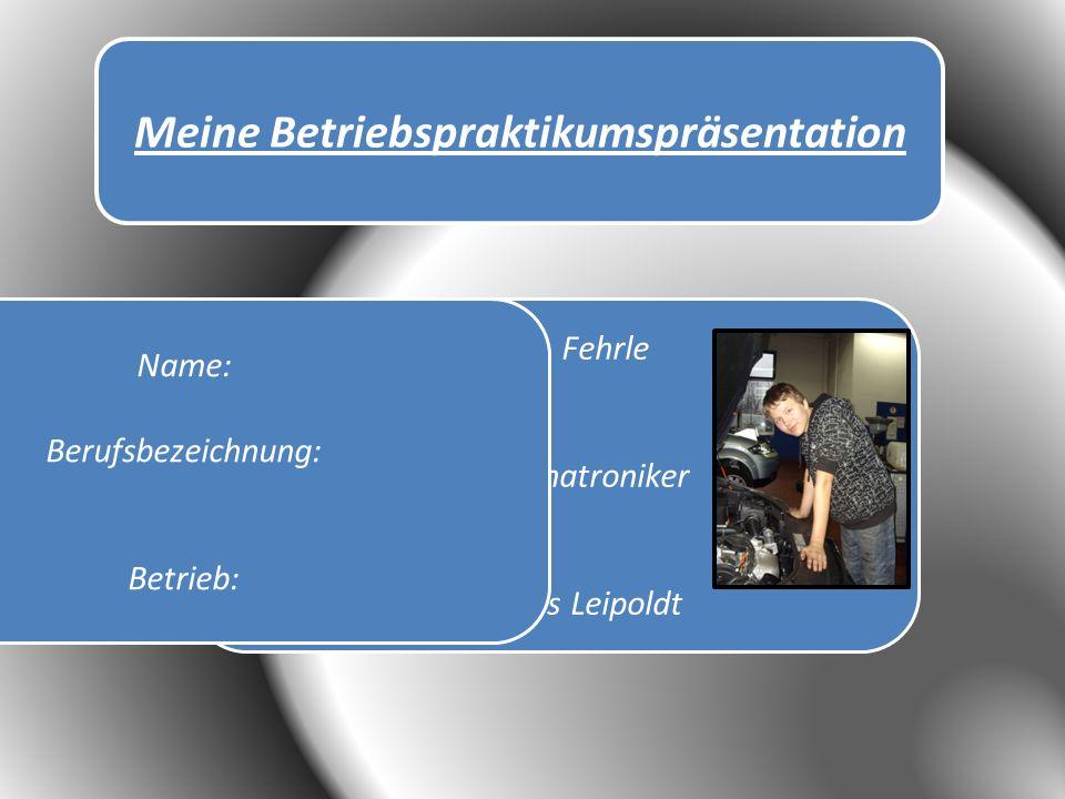 Ort: Filderstadt Bernhausen Straße: Felix-Winkel-Straße 30 Größe: Eine große Halle, Keller, Dachgeschoss und Werkstatt Dienstleistungen: Reparatur von Autos und Serviceleistungen Informationen über den Betrieb