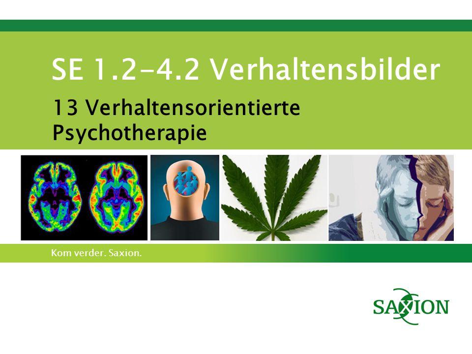 Kom verder. Saxion. SE 1.2-4.2 Verhaltensbilder 13 Verhaltensorientierte Psychotherapie