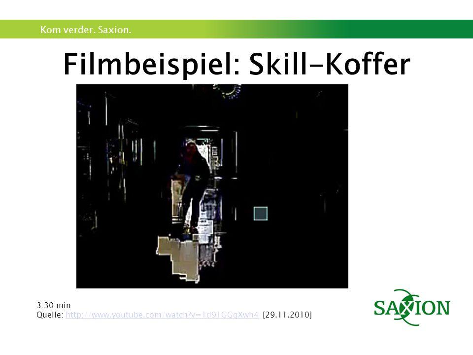 Kom verder. Saxion. Filmbeispiel: Skill-Koffer 3:30 min Quelle: http://www.youtube.com/watch?v=1d91GGgXwh4 [29.11.2010]http://www.youtube.com/watch?v=