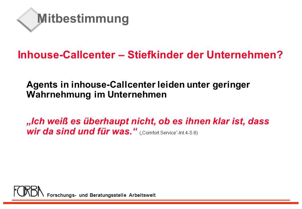 Forschungs- und Beratungsstelle Arbeitswelt Mitbestimmung Inhouse-Callcenter – Stiefkinder der Unternehmen.