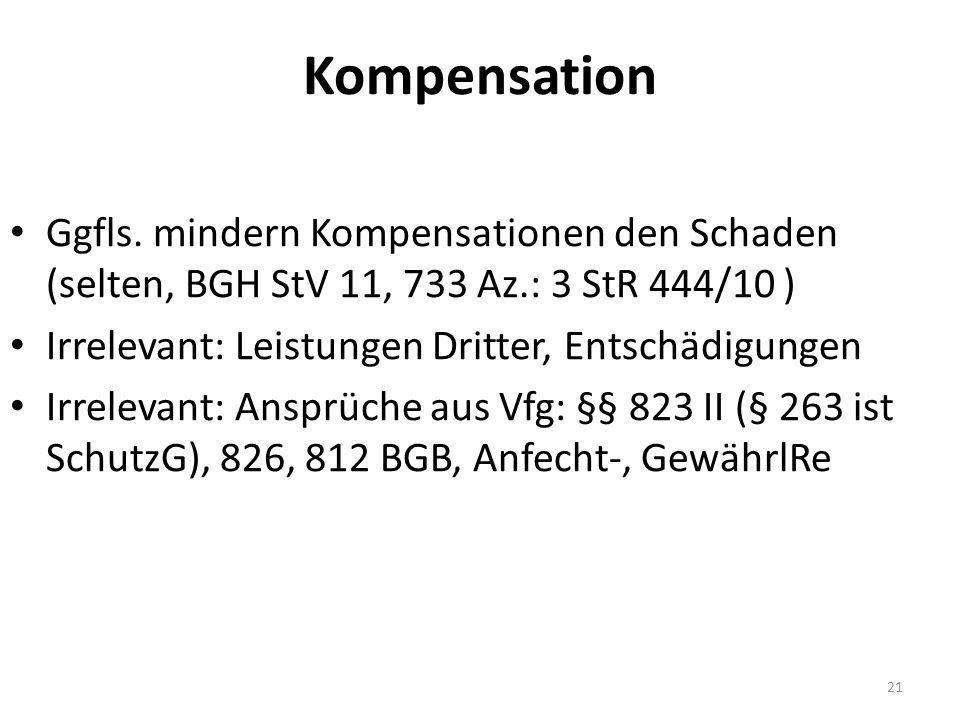 Kompensation Ggfls.