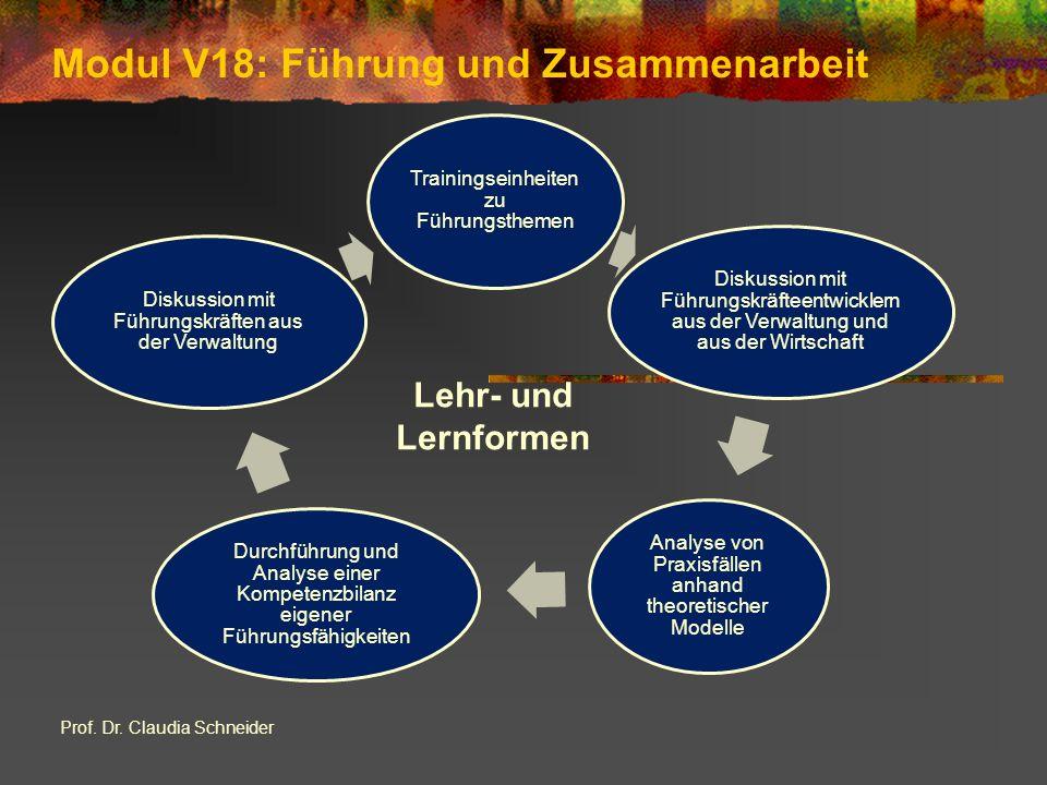 Modul V18: Führung und Zusammenarbeit Prof. Dr.