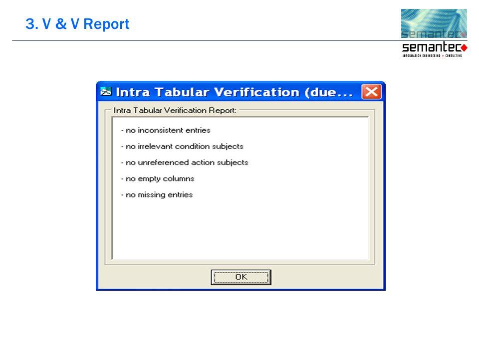 3. V & V Report