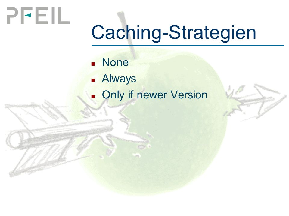 Caching-Strategien None Always Only if newer Version